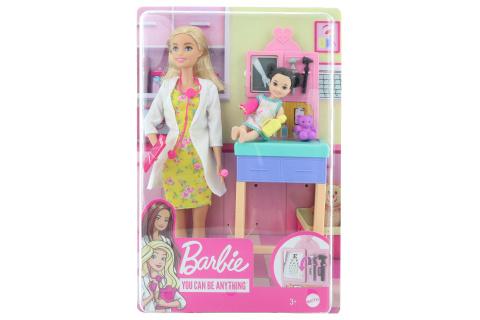 Barbie Povolání herní set dětská doktorka blondýna GTN51