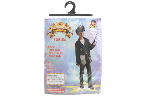 Šaty na karneval - Policista, 120 - 130 cm