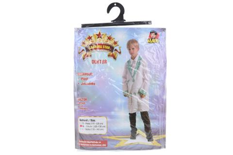 Šaty na karneval - doktor, 120 - 130 cm