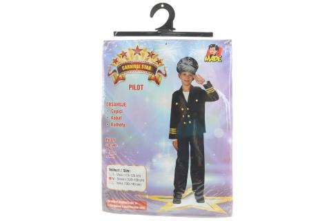 Šaty na karneval - Pilot, 120 - 130 cm