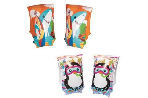 BESTWAY Nafukovací rukávky žralok/tučňák