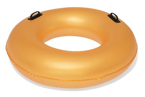 BESTWAY Nafukovací kruh zlatý s úchyty