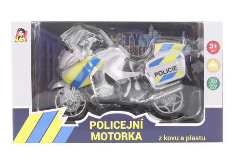 Motorka policejní kovová 12 cm
