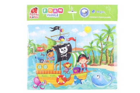 Pěnové puzzle - piráti