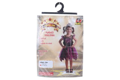 Šaty na karneval - pavoučí královna, 92 - 104 cm