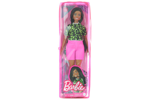 Barbie Modelka - tričko s neonovým leopardím vzorem GYB00