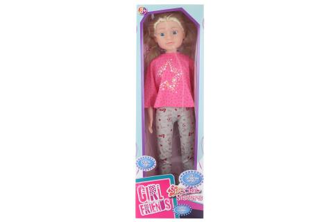 Panenka chodící blondýnka 80 cm