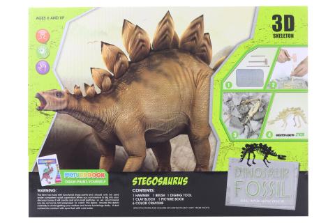 Tesání Stegosaurus s omalovánky