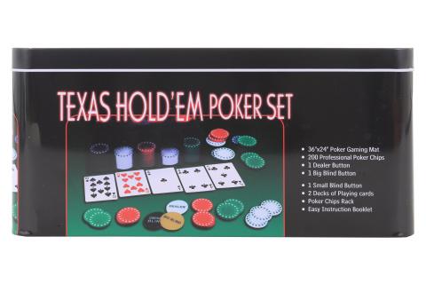 Set poker v plechovém boxu